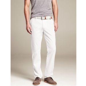 Banana Republic Mens Aiden Chino White Pants 35x30